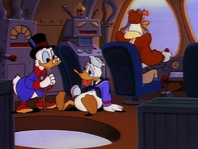 Screenshots from the 1987 Disney Television Animation cartoon Three Ducks of the Condor