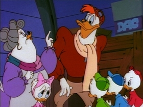Screenshots from the 1987 Disney Television Animation cartoon Cold Duck