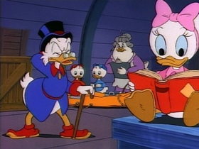 Screenshots from the 1987 Disney Television Animation cartoon Too Much of a Gold Thing
