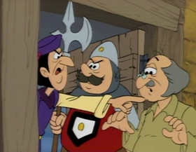 Screenshots from the 1987 Hanna-Barbera cartoon