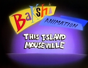 Screenshots from the 1987 Bakshi Animation cartoon This Island Mouseville