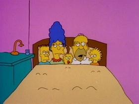 Screenshots from the 1987 Gracie Films cartoon Good Night