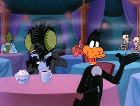 Screenshots from the 1988 Warner Brothers cartoon Night of the Living Duck