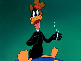 Screenshots from the 1988 Warner Bros. cartoon Daffy Duck