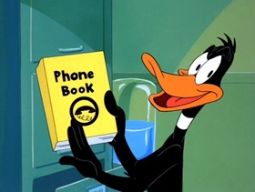 Screenshots from the 1988 Warner Brothers cartoon Daffy Duck