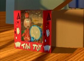 Screenshots from the 1988 Pixar cartoon Tin Toy