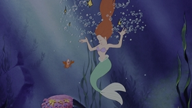 Screenshots from the 1989 Disney cartoon The Little Mermaid