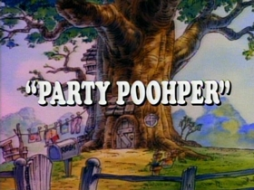 Screenshots from the 1989 Disney Television Animation cartoon Party Poohper