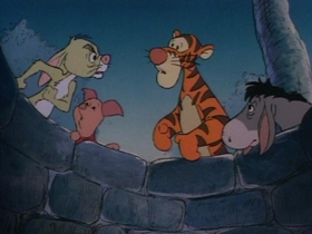 Screenshots from the 1989 Disney Television Animation cartoon All