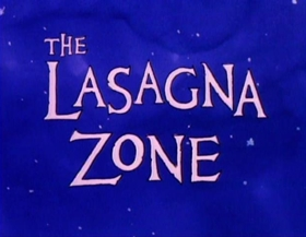 Screenshots from the 1989 Film Roman cartoon The Lasagna Zone