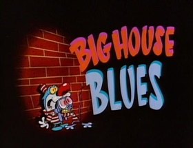 Screenshots from the 1990 Spumco cartoon Big House Blues