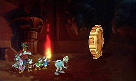 Screenshots from the 1990 Disney Television Animation cartoon DuckTales the Movie: Treasure of the Lost Lamp