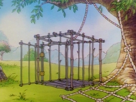 Screenshots from the 1990 Disney Television Animation cartoon April Pooh