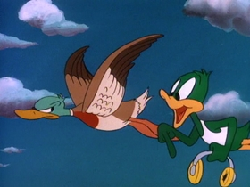 Screenshots from the 1990 Amblin Entertainment cartoon Migrant Mallard