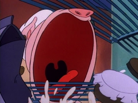 Screenshots from the 1990 Amblin Entertainment cartoon Kitty Catastrophy