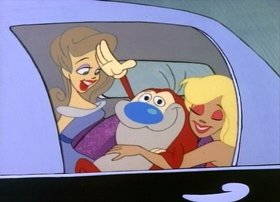 Screenshots from the 1991 Spumco cartoon Stimpy