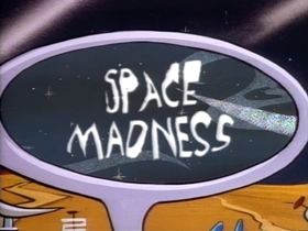 Screenshots from the 1991 Spumco cartoon Space Madness