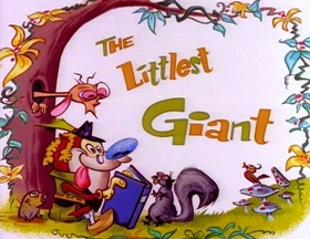 Screenshots from the 1991 Spumco cartoon The Littlest Giant