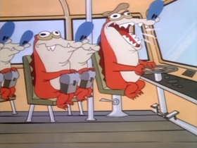 Screenshots from the 1991 Spumco cartoon A Cartoon