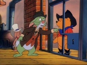 Screenshots from the 1991 Disney Television Animation cartoon The Good, the Bad, and the Tigger
