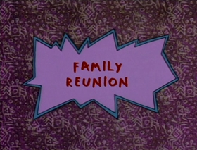 Screenshots from the 1992 Klasky Csupo cartoon Family Reunion