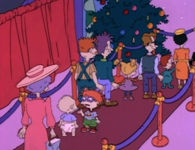 Screenshots from the 1992 Klasky Csupo cartoon The Santa Experience