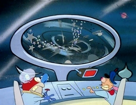 Screenshots from the 1992 Spumco cartoon Black Hole