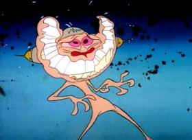 Screenshots from the 1992 Spumco cartoon Stimpy