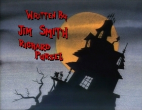 Screenshots from the 1992 Spumco cartoon Haunted House