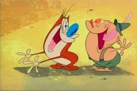 Screenshots from the 1992 Spumco cartoon Svën Höek