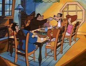 Screenshots from the 1992 Disney Television Animation cartoon Inspector Goofy