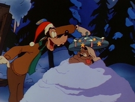 Screenshots from the 1992 Disney Television Animation cartoon Have Yourself a Goofy Little Christmas