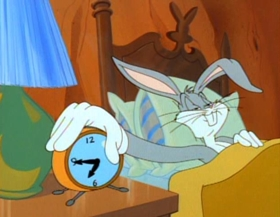 Screenshots from the 1992 Warner Brothers cartoon Invasion of the Bunny Snatchers