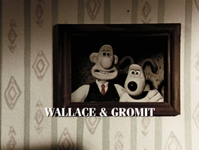 Screenshots from the 1993 Aardman cartoon The Wrong Trousers