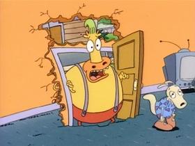 Screenshots from the 1993 Games Animation cartoon No Pain, No Gain