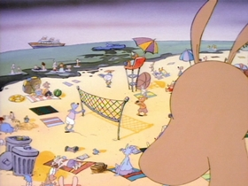 Screenshots from the 1993 Games Animation cartoon Sand in Your Navel