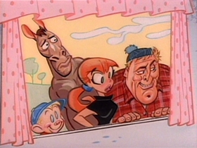 Screenshots from the 1993 Spumco cartoon Stimpy