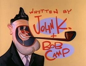 Screenshots from the 1993 Spumco cartoon Fake Dad