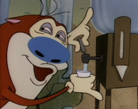 Screenshots from the 1993 Spumco cartoon The Great Outdoors