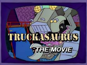 Screenshots from the 1993 Gracie Films cartoon Marge vs. the Monorail