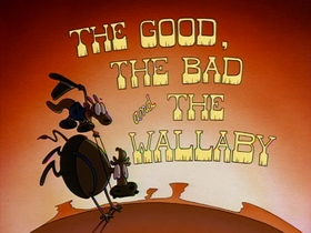 Screenshots from the 1993 Games Animation cartoon The Good, the Bad, and the Wallaby