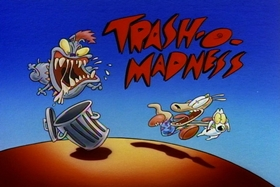 Screenshots from the 1993 Games Animation cartoon Trash-O-Madness