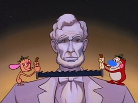 Screenshots from the 1993 Games Animation cartoon An Abe Divided