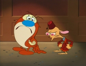 Screenshots from the 1993 Spumco cartoon Son of Stimpy