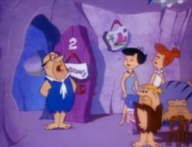 Screenshots from the 1993 Hanna-Barbera cartoon A Flintstone Family Christmas