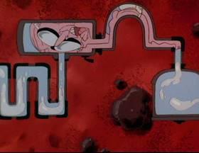 Screenshots from the 1993 Amblin Entertainment cartoon The Monkey Song