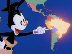 Screenshots from the 1993 Amblin Entertainment cartoon Yakko