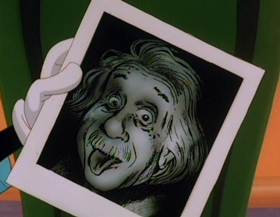 Screenshots from the 1993 Amblin Entertainment cartoon Cookies for Einstein