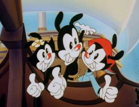 Screenshots from the 1993 Amblin Entertainment cartoon H.M.S. Yakko