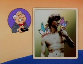 Screenshots from the 1993 Amblin Entertainment cartoon Hooked on a Ceiling